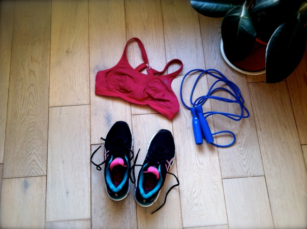 My war equipment for my morning exercise routine